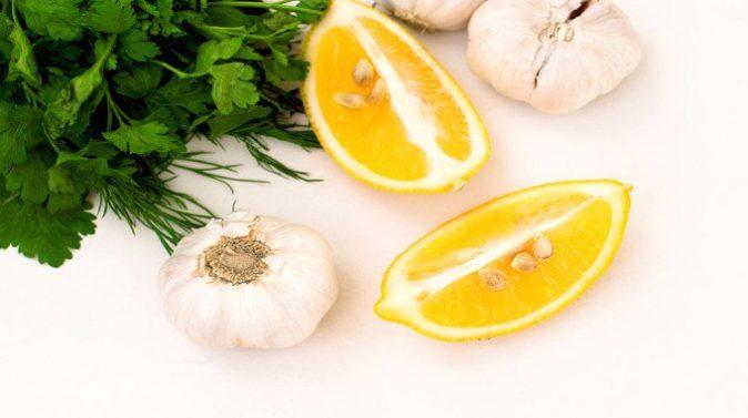 sarımsak maydanoz ve limon suyundan kür